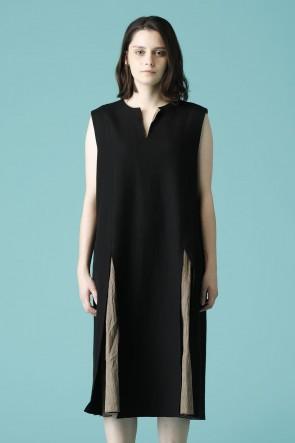 individual sentiments16-17AWウィメンズ ウーブン ノースリーブ オーバー ドレス