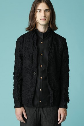 individual sentiments17-18AWユニセックス ウーブン シャツ ジャケット