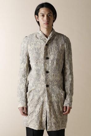 individual sentiments20SSユニセックス ウーブン ショール カラー コート