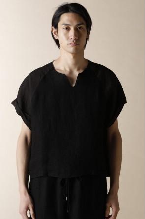 individual sentiments17SSユニセックス ウーブン ラグラン スリーブ Tシャツ ブラック