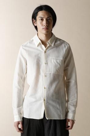 individual sentiments17SSユニセックス ウーブン ワン ポケット シャツ