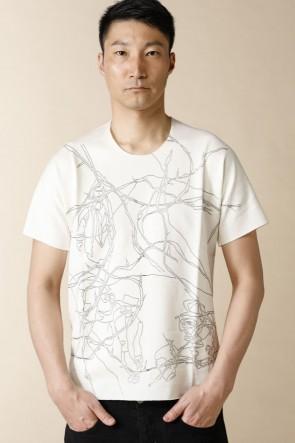 individual sentiments18SSユニセックス ウーブン フラット プリント Tシャツ