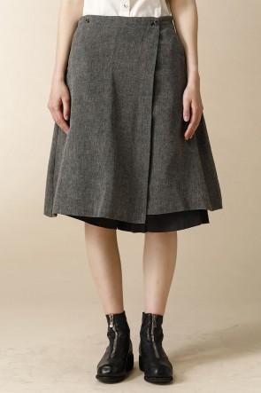 individual sentiments16SSウーメンズ ウーブン スカート パンツ グレイ ブラック