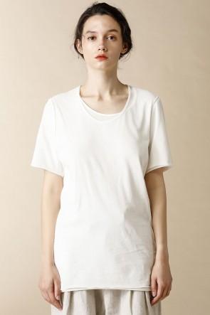individual sentiments17SSユニセックス ウーブン レイヤード Tシャツ ホワイト