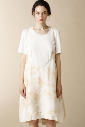 individual sentiments16SSウーメンズ ウーブン スカート ドレス エクリュ ホワイト