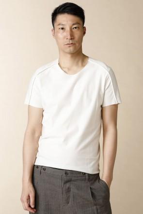 individual sentiments16SSユニセックス ウーブン ベーシック Tシャツ ホワイト