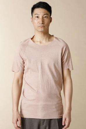 individual sentiments17SSユニセックス ウーブン 半袖 Tシャツ コットン リネン ジャージー