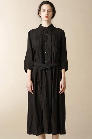 individual sentiments17SSウィメンズ ウーブン ロング シャツ ドレス