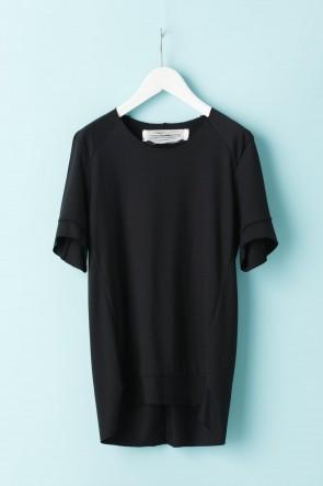 individual sentiments21SSユニセックス ウーブン タックダーツショートスリーブTシャツ - LJ43 ブラック