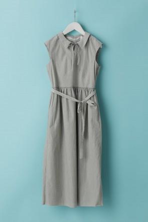 individual sentiments21SSウーメンズ ウーブン セーラー カラー ノースリーブ ドレス LC18