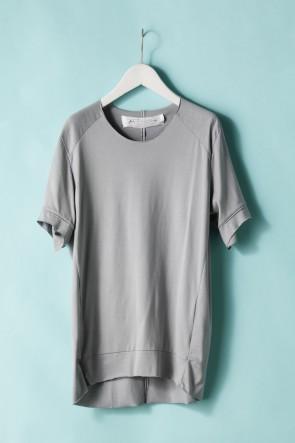 individual sentiments21SSユニセックス ウーブン タックダーツショートスリーブTシャツ - LJ43 グレー