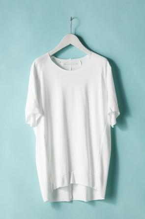 individual sentiments21SSユニセックス ウーブン タックダーツショートスリーブTシャツ - LJ43 ホワイト