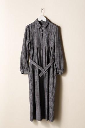 individual sentiments21-22AWウィメンズ ロングプリーツシャツドレス
