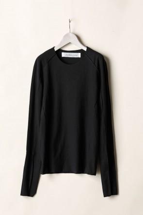 individual sentiments21-22AWベーシックロングスリーブTシャツ  -ブラック