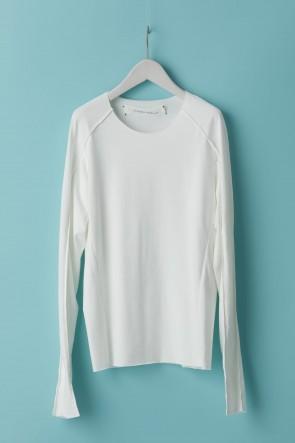 individual sentiments21SSユニセックス ウーブン ベーシックロングスリーブTシャツ - LJ43 ホワイト