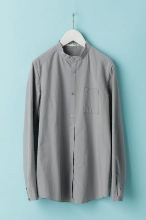individual sentiments21SSユニセックス ウーブン マオカラーシャツ  CS1 グレー