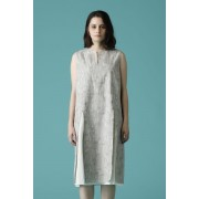 WOMEN'S WOVEN NO SLEEVE OVER DRESS-Snow Gray-0