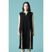 WOMEN'S WOVEN NO SLEEVE OVER DRESS-Black-1