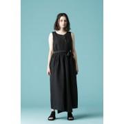 WOMEN'S WOVEN WRAPPING DRESS - LI12-Black-0