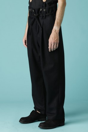 individual sentiments 17-18AW UNISEX WOVEN HIGH WAIST WIDE PANTS