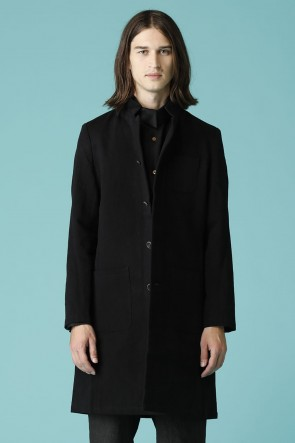individual sentiments17SSUNISEX WOVEN STAND COLLAR WORK COAT