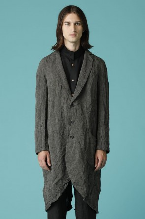 individual sentiments 16SS UNISEX WOVEN PEAKED LAPEL LONG COAT