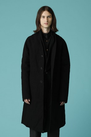 individual sentiments 18-19AW UNISEX WOVEN LAYERED COAT