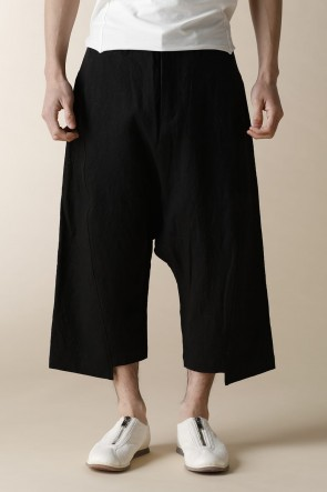 individual sentiments16SSUNISEX WOVEN LOW CLOTCH CROPPED PANTS
