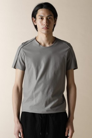 individual sentiments 16SS UNISEX WOVEN BASIC T-SHIRTS FADE GRAY GREEN