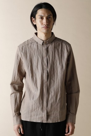 individual sentiments 18SS UNISEX WOVEN TINY COLLAR SHIRTS