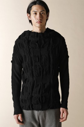 individual sentiments 16-17AW UNISEX HIGH NECK LONG SLEEVE KNIT BLACK