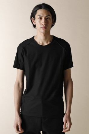 individual sentiments 16-17AW UNISEX WOVEN BASIC T-SHIRTS BLACK
