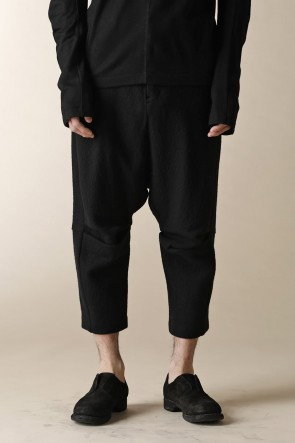 individual sentiments 16-17AW UNISEX WOVEN CROPPED PANTS BLACK