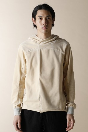 individual sentiments17-18AWUNISEX WOVEN PULL OVER PARKA ECRU WHITE