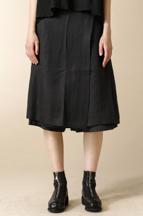 individual sentiments 16SS WOMEN'S WOVEN SKIRT PANTS BLACK