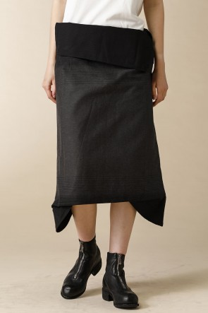 individual sentiments 10-11AW WOMEN'S WOVEN SKIRT