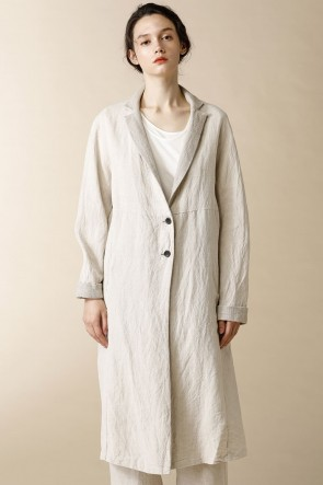 individual sentiments 17SS UNISEX WOVEN LONG CARDIGAN