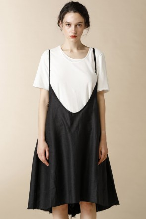 individual sentiments 16SS WOMEN'S WOVEN SHIKIRT DRESS BLACK