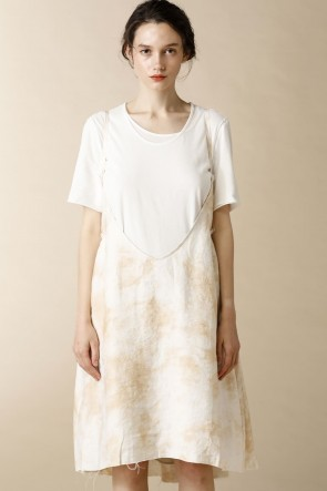 individual sentiments 16SS WOMEN'S WOVEN SHIKIRT DRESS ECRU WHITE