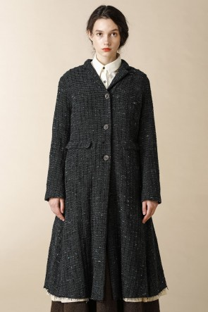 individual sentiments 17-18AW WOMEN'S WOVEN REVERSIBLE LONG COAT