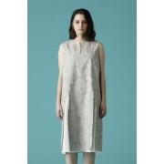 WOMEN'S WOVEN NO SLEEVE OVER DRESS-Snow Gray-0
