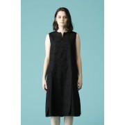 WOMEN'S WOVEN NO SLEEVE OVER DRESS BLACK-Black-0