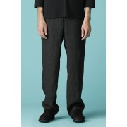 UNISEX WOVEN STRAIGHT PANTS-Black-3