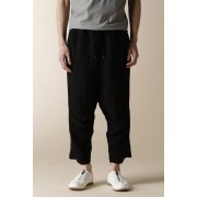 UNISEX WOVEN CROPPED EASY PANTS-Black-4