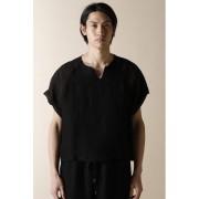 UNISEX WOVEN RAGLAN SLEEVE T-SHIRTS BLACK-Black-4