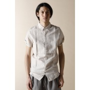 UNISEX WOVEN LAYERED SHIRTS-Snow Gray-1