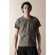 UNISEX WOVEN FLAT PRINTED T-SHIRTS-Charcoal-0