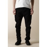 UNISEX WOVEN BOOTS CUT 5 POCKET PANTS-Black-0