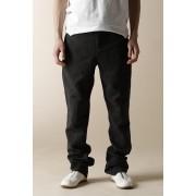 MEN'S WOVEN ANKLE ZIP ADJUSTMENT PANTS-Gray Black-3