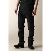 UNISEX WOVEN 5 POCKET STRAIGHT PANTS-Black-3